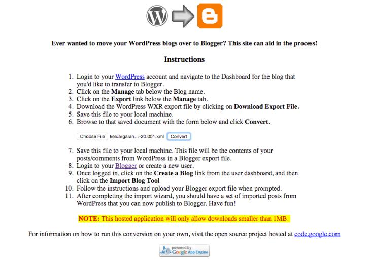 cara-convert-wordpress-ke-blogspot